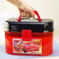 Disney Pixar Cars 2 3 Saetta Mcqueen di Archiviazione Portatile Box Doppi Strati Auto Giocattoli Di Natale Regalo di Nuovo Anno per I Bambini