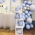 Прозрачная коробка на заказ, 1 шт., «сделай сам», имя, детский душ, для мальчиков и девочек, товары для дня рождения, воздушные шары на День свя...