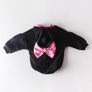 Image 3 - 2020 recién nacido arco lindo letras para bebé con capucha de algodón largo más ropa de manga de Cachemira monos otoño primavera niños niño mameluco