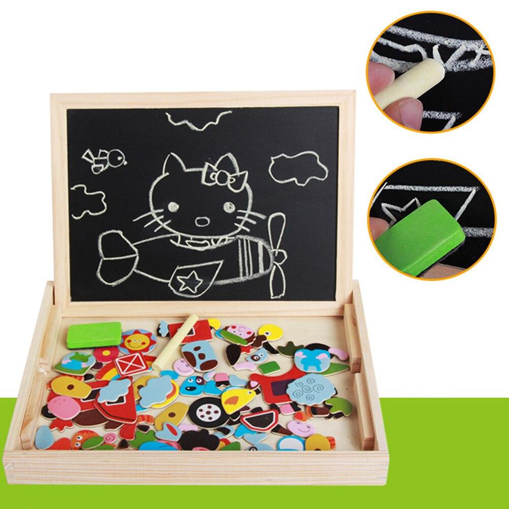 Яркие Красочные привлекательные деревянные животные насекомое Рисунок доска магнитная головоломка Детский обучающий игрушки в подарок на...