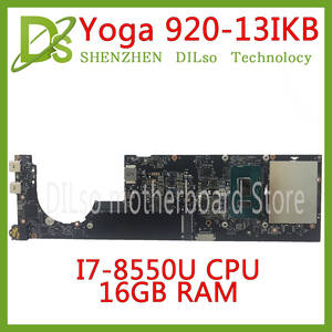 KEFU Laptop Motherboard Lenovo Yoga 920-13IKB I7-8550U NM-B291 for 16GB-RAM 100%Tested