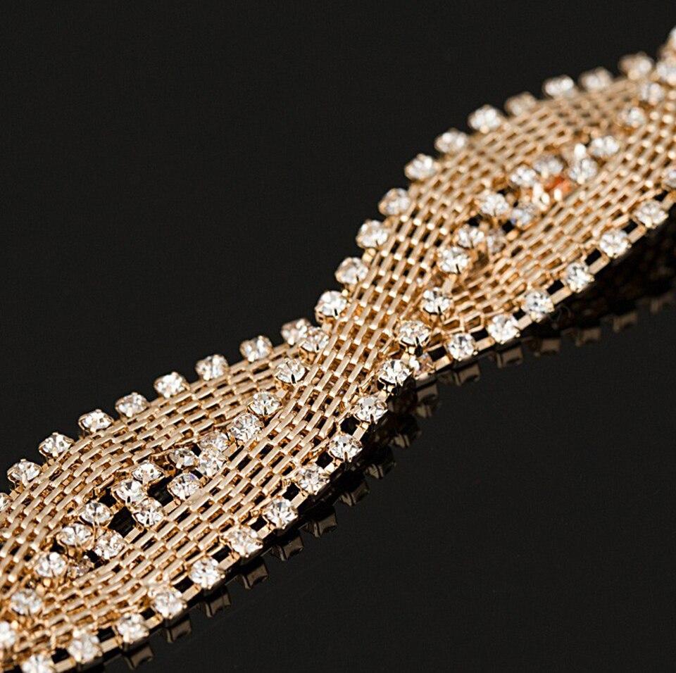 full star super shiny rhinestone crystal silver Chain