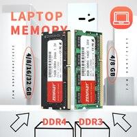 ZENFAST-memoria Ram para portátil, DDR3, DDR4, 4gb, 8GB, 16GB, 1333, 1600, 2400, 2666, 2133MHz, 204 Pines, Sodimm, para Intel y AMD