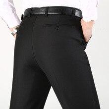Winter New Black Dark Blue Plush Elastic Trousers