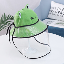 Design Sun Hat Practical Hat Fishermans Cap Spittle-proof Cap for Kids with Cover (Green)