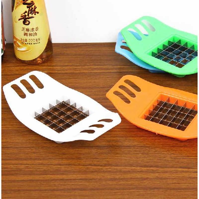สแตนเลสสตีลผักมันฝรั่งเครื่องตัดChopper Chipsทำเครื่องมือตัดมันฝรั่งFriesเครื่องมืออุปกรณ์เสริมห้องครัว