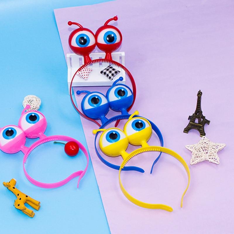 New Hot LED Eyeball Headband Light Up Alien Head Headwear Flashing Eyeball Headpiece For Halloween Concerts YAA99