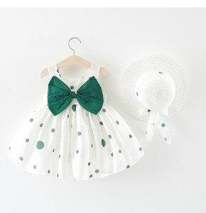 Bonito bebê recém-nascido criança menina 0-3 t princesa vestido de festa tutu verão algodão polka dot macio vestido por atacado quente