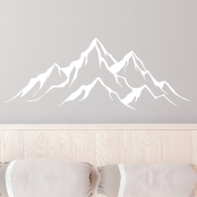 The Mountains Decal. Rustic Home Decor. Travel Adventure Vinyl Sticker. Mountain Range Nursery Bedroom Decoration NR53