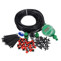 1 Sets Fog Nozzles irrigation system Portable Misting Automatic Watering 20m Garden Hose Spray Head Water Connection Dripper