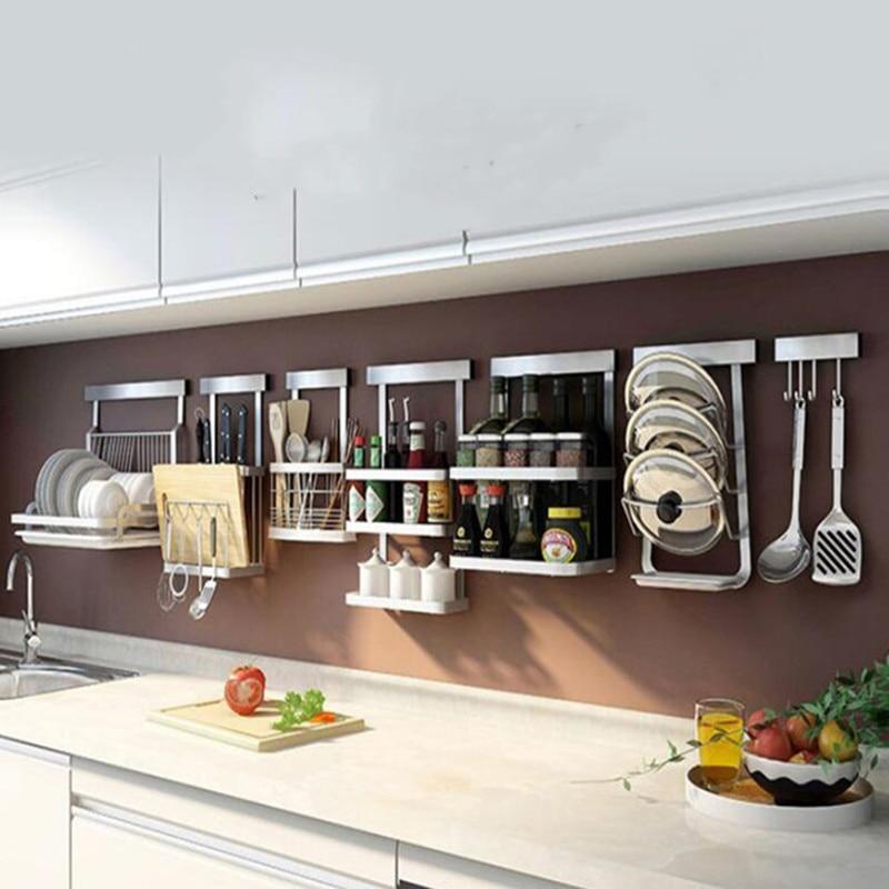 Kitchen Organizer Stainless Steel Multifunction Dish Drying Rack Wall Storage Holder Tableware Shelf Drainer|Racks & Holders| |  - title=