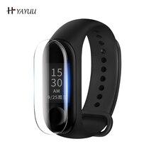 YAYUU 5Pcs TPU Screen Protector For Xiaomi Mi Band 4 3 Smart Watch  Full Cover Film Protective Watch Dustproof Scratch-resistant