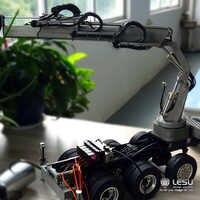 1/14 RC LESU grúa hidráulica de Metal para TAMIYA Tractor camión remolque plano