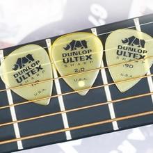 цена на Dunlop Ultex Sharp Guitar Pick Plectrum Mediator 0.73mm-2.0mm Bass Mediator Acoustic Electric Classic Guitar Parts Guitar Picks