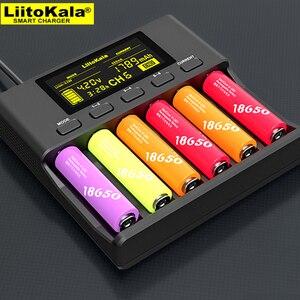 Image 5 - LiitoKala Lii S6 Batterie ladegerät 18650 Ladegerät 6 Slot Auto Polarität Erkennen Für 18650 26650 21700 32650 AA AAA batterien