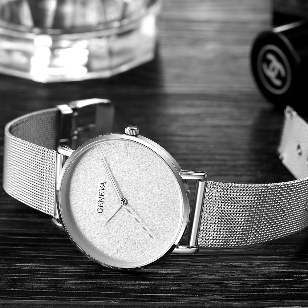 2019 damski zegarek Bayan Kol Saati moda złota róża damski zegarek srebrny kobieta reloj mujer saat relogio zegarek damski 6