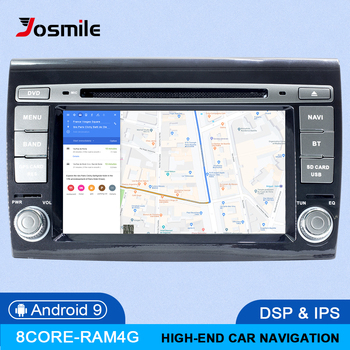 IPS DSP 4GB 2 Din Android 9.0 Car Multimedia player For Fiat/Bravo 2007 2008 2009 2010 2011 2012 GPS Navigation DVD Radio Stereo