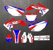 Новый стиль команда графики фоны наклейки Наборы наклеек для Honda CRF250 CRF250R CRF 250 250R 2004 2005 2006 2007 2008 2009