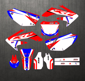 Image 1 - New Style TEAM GRAPHICS BACKGROUNDS DECALS STICKERS Kits For Honda CRF250 CRF250R CRF 250 250R 2004 2005 2006 2007 2008 2009