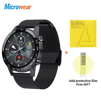 Microwear L16 Smart Watch Men Sports Fitness Tracker IP68 Waterproof Heart Rate Monitor Android IOS Full Touch Screen Smartwatch 8