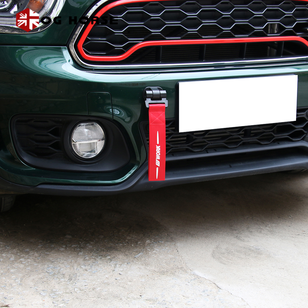 גרירת חבל קרוואן Tow חבל רכב Tow רצועת פגוש קרוואן למיני קופר R50 R53 R55 R56 R57 R58 R59 r60 R61 F54 F55 F56 F60