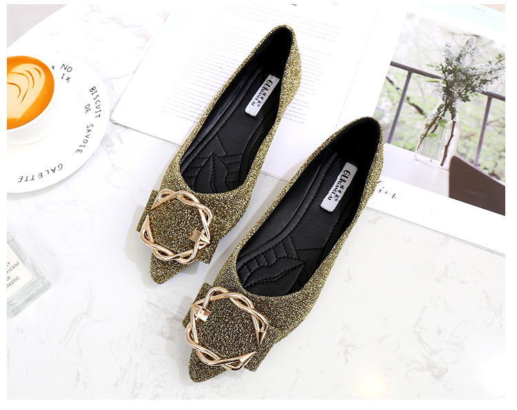 Women Flat - Bottomed - Ping Soft Floor Hundred Women By Mps Shoes with Casual Shoes Shallow Gas Pointed Toe