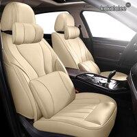 kokololee Custom Leather car seat covers For SKODA Yeti KODIAQ Octavia Superb Fabia Rapid KAROQ KAMIQ Automobiles Seat Covers