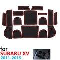 Противоскользящие резиновые чашки подушки Салонные подложки для Subaru XV Crosstrek WRX ИППП 2011 ~ 2015 2012 2013 2014 Аксессуары чехлы сидений автомобиля ковр...