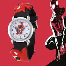Boys Marvel Cartoon Spiderman Watch hodinky Children Kids hero Silicone ceasuri Gift Saat Montre Enfant Garcon