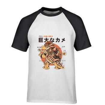 Camiseta de fútbol blanca para hombre, Camiseta de manga raglán con estampado de supermario bros Bowser BOSS de Hip Hop de alta costura para gimnasio
