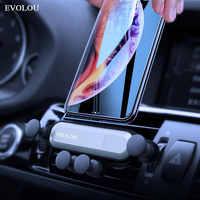 Gravidade titular do telefone do carro em ventilação de ar do carro montagem clipe suporte para samsung s10 iphone xs max xiaomi suporte porta celular smartphone