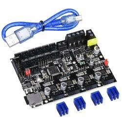 Biqu bigtreetech skr mini e3 32 bit placa de controle integrado tmc2209 uart controlador tmc2208 atualização ender3 pro impressora 3d