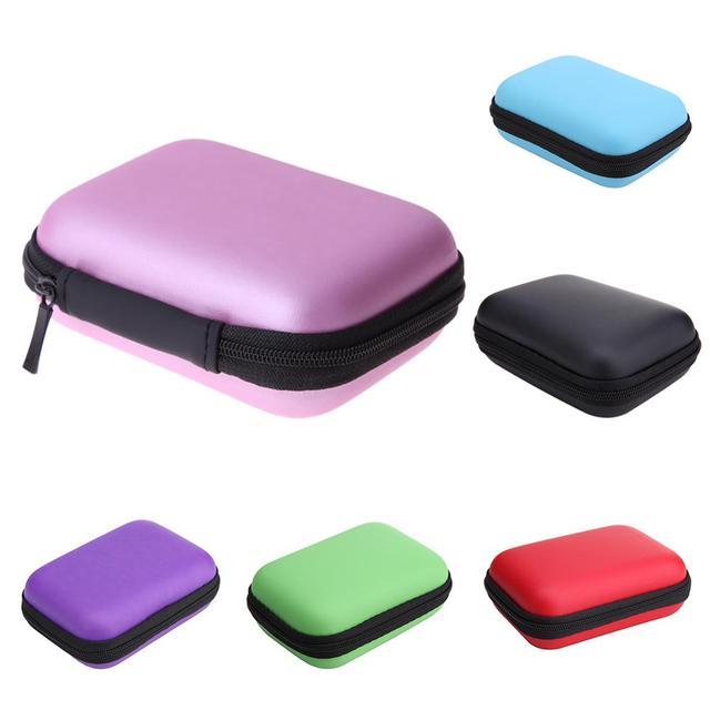 Bolsa de disco duro HDD, carcasa de disco duro con cremallera, bolsa para auriculares, funda protectora externa, funda para teléfono móvil, soporte de almacenamiento EVA, caja Caddy