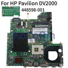KoCoQin Laptop płyta główna do HP Compaq V3000 DV2000 płyty głównej płyta główna 448598 001 06228 3 965 DDR2