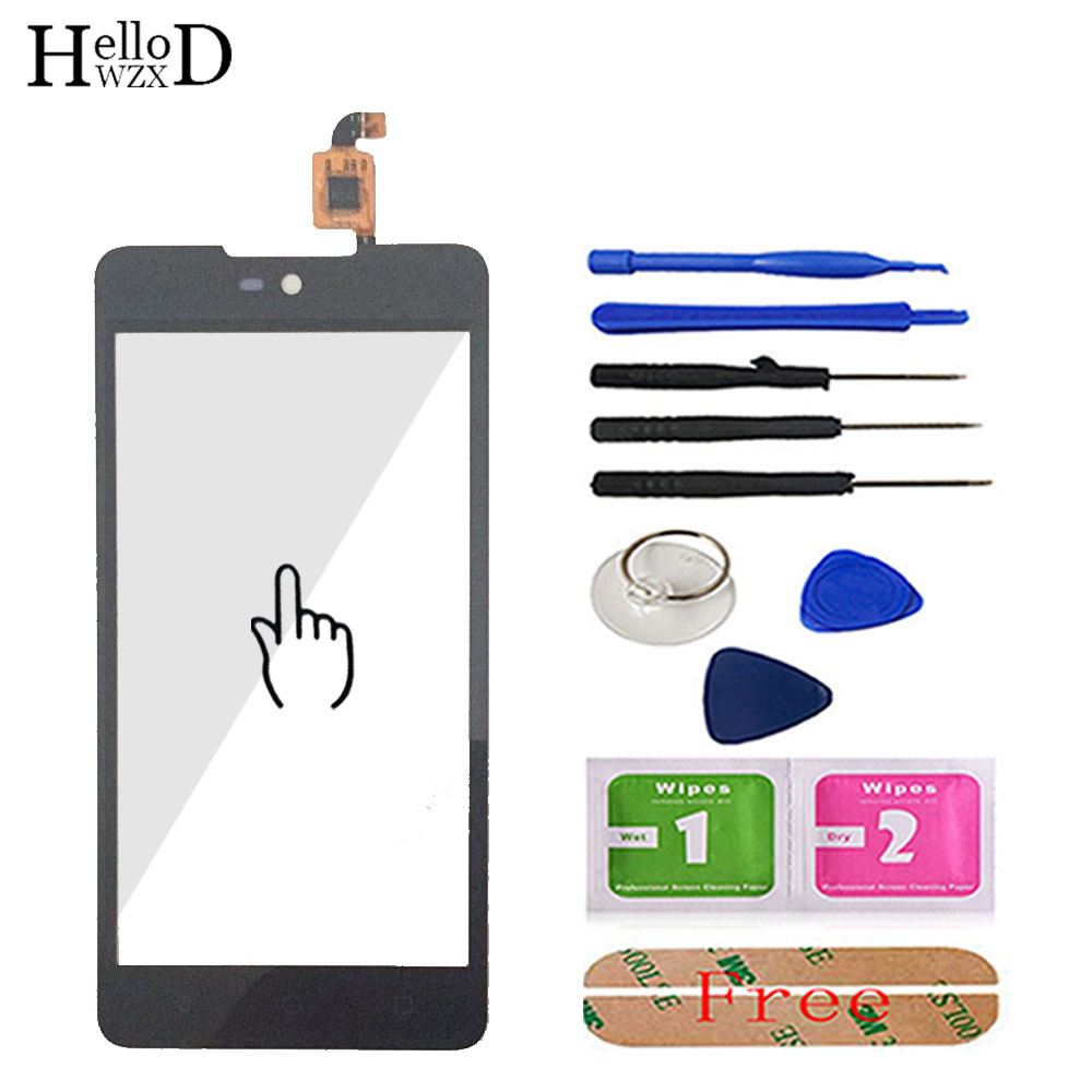 Touch Screen Glass For Micromax Canvas Selfie 2 Q340 Touch Screen Glass Digitizer Panel Lens Sensor 5.0'' Mobile Tools Adhesive