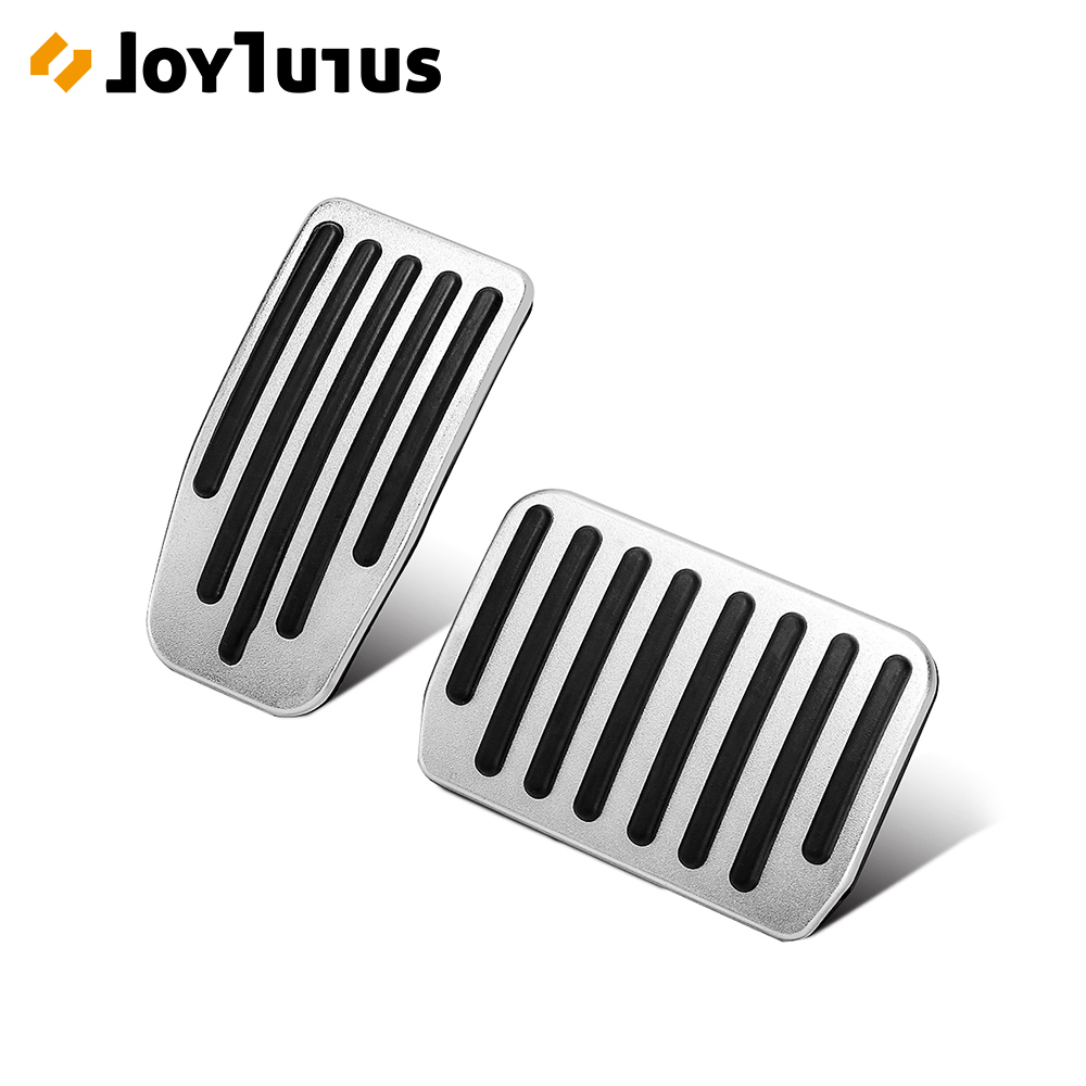 2pcs Aluminum Alloy Foot Pedal For Tesla Model 3 Accelerator Gas Fuel Brake Pedal Pads Mats Cover Accessories Car Styling