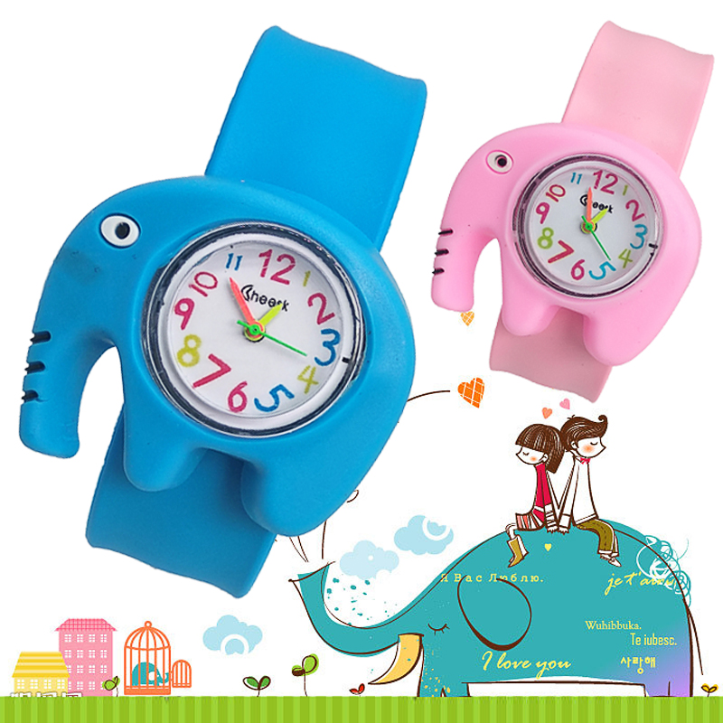 Cartoon Elephant Toys Patted Children Watches Boys Girls Baby Christmas Gifts Kids Digital Watch Birthday Gift Electronic Clock