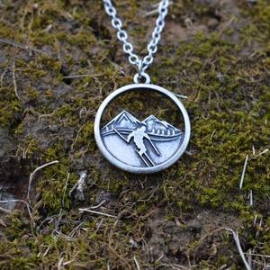 Image 4 - 10 шт горы вызов катание на лыжах ожерелье Зимний спорт Шарм
