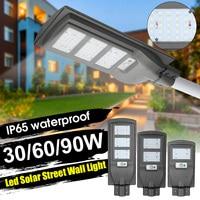 90w 90pcs LED Solar Street Light Radar PIR Motion Sensor Wall Timing Lamp+Remote Waterproof for Plaza Garden Yard Outdoor