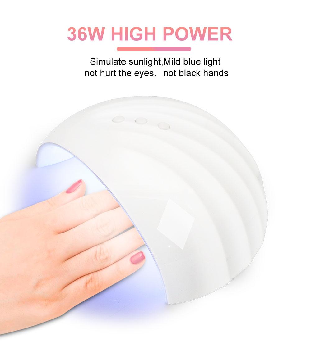 ike usb 36w conduziu a lampada uv secador de unha luz solar profissional inteligente de cura