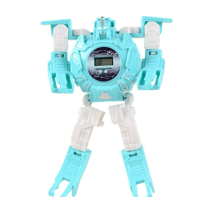 KDM Children Watches Kids Morphing Robot Cartoon Girls Watches Child Boys LED Digital Quartz Wristwatches Relogio Masculino 2019