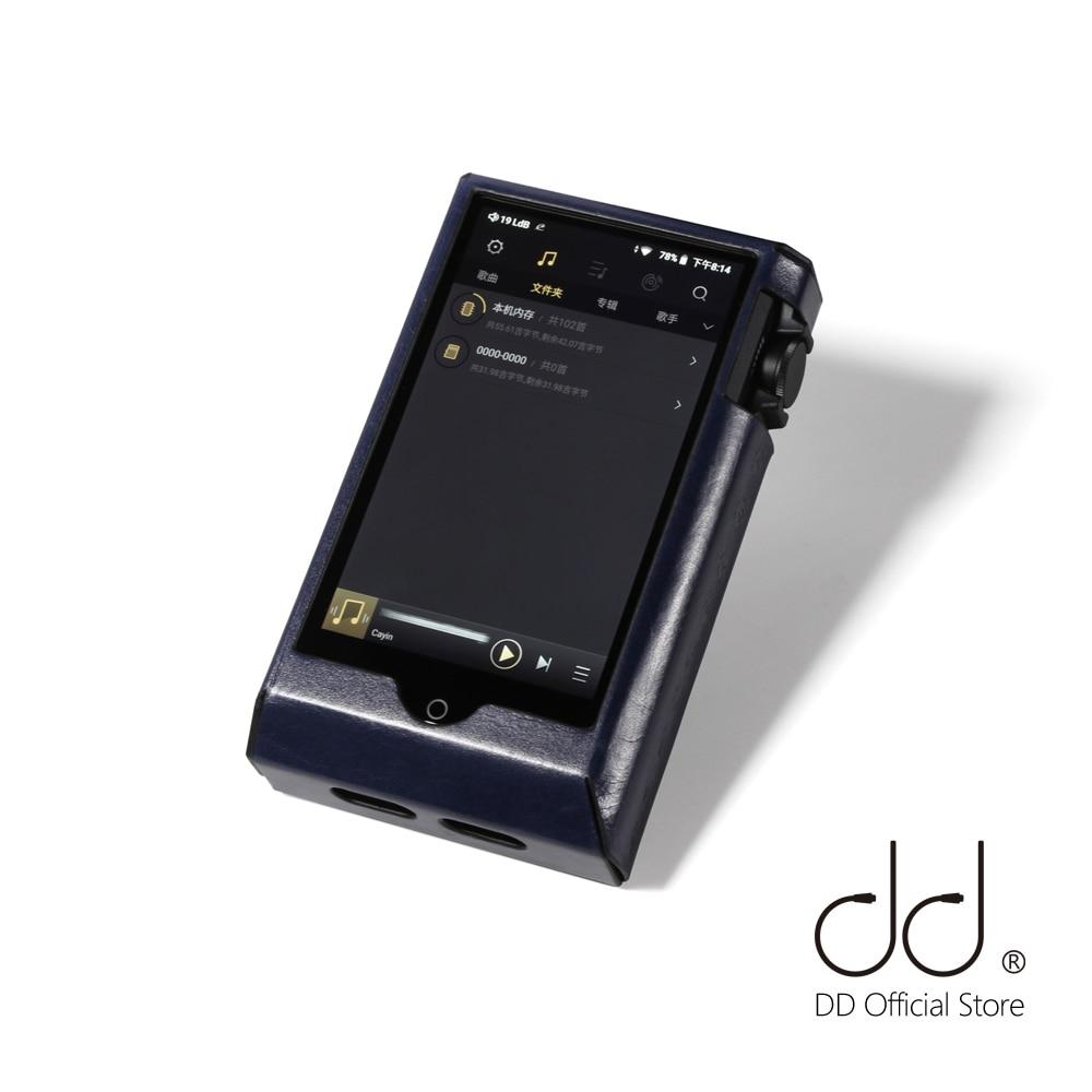 DD ddHiFi C-N6II Olio Cerato Pelle Bovina Custodia In Pelle per Cayin N6ii/N6MKII/N62 E01 e E02, giocatore di musica/DAP Coperchio di Protezione (Deep Blue)
