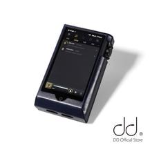 Dd ddhifi C N6II estojo de couro de couro encerado de óleo para cayin n6ii/n6mkii/n62 e01 & e02, reprodutor de música/dap capa protetora (azul profundo)