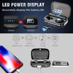 Image 2 - Bluetooth V5.0 אוזניות אלחוטי אוזניות 6D סטריאו ספורט אלחוטי אוזניות אוזניות אוזניות 4000 mAh כוח עבור iPhone Xiaomi