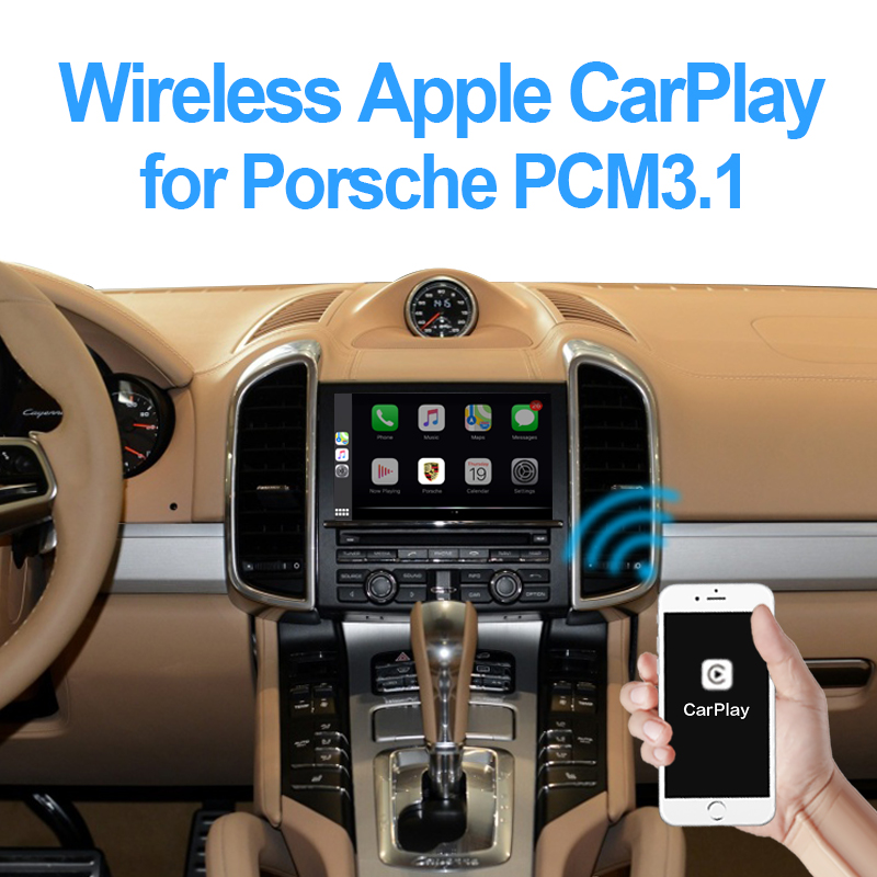 Wireless Apple Carplay For Porsche Cayenne Macan Cayman Panamera Boxster 718 911 PCM3 1 Android Auto Car Play Adapter
