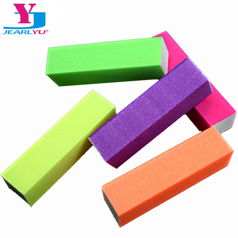 5pcs/lot Hot Nail Buffer Block Neon Color Buffing Sanding Buffer Block Files Manicure Nail Art Tips Women Beauty Manicure Tools