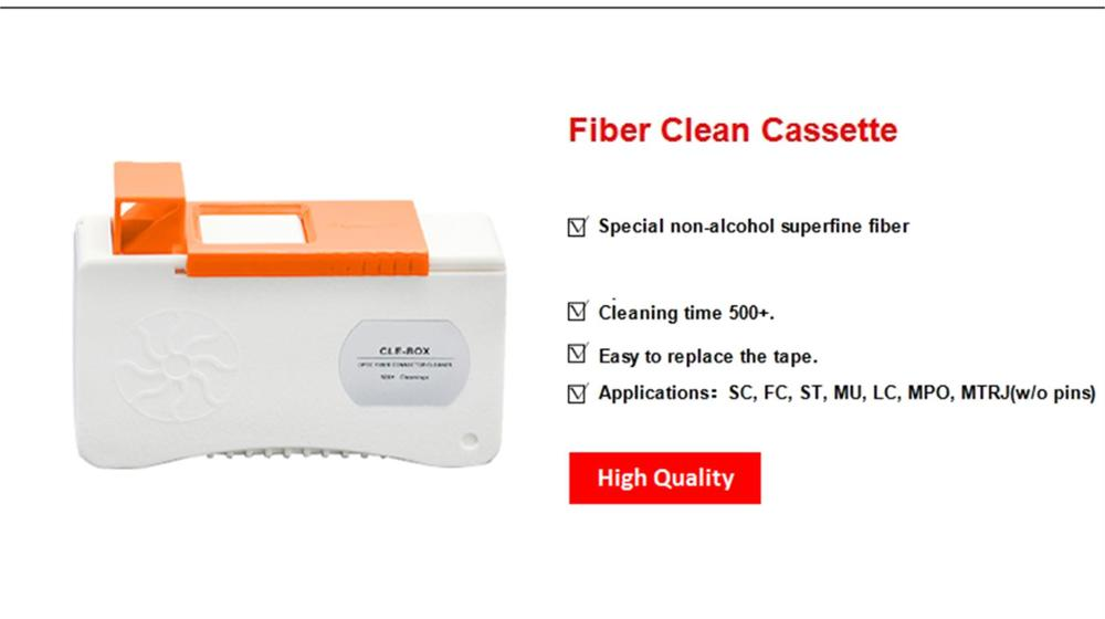 9 in 1 Fiber Cleaning Kit//Fiber Optic FTTH Tools Set FTTX Network Testing Tool with Fiber Inspection Microscope Cleaner Cassette