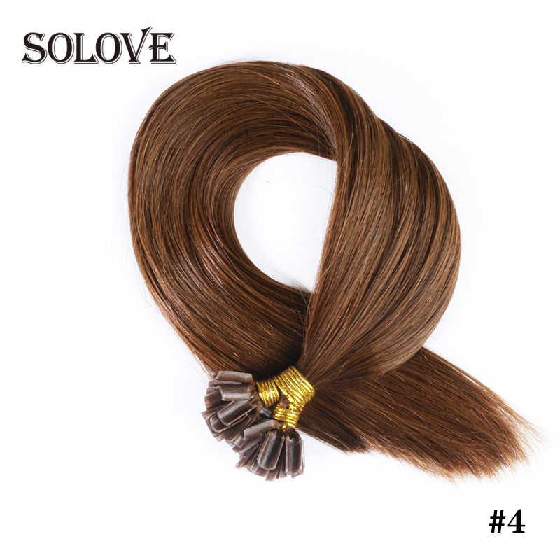Gerade Keratin Menschliches Fusion Haar Nagel U Tipp Maschine Made Remy Menschliches Haar Extensions 0,8g/ps Muti-farbe