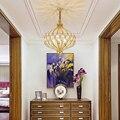 Современная хрустальная люстра освещение для кухни для спальни в стиле АР-деко E14 Светодиодный люстры Потолочная люстра Кристальные светил...