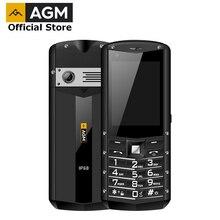 Oficjalne AGM M5 uproszczony systemem Android 4G LTE typu C ekran dotykowy IP68 wodoodporny wytrzymały telefon komórkowy 2.8 cal 2500mAH telefon